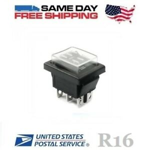 Waterproof Momentary Dpdt Double Pole Double Throw on off on Rocker Switch