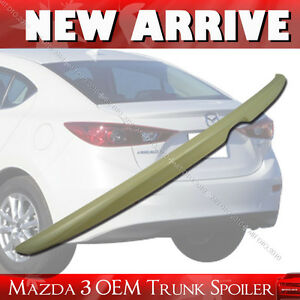 Painted Mazda 3 Oe Abs Trunk Lip Spoiler Rear Wing 2014 2017 4dr Sedan