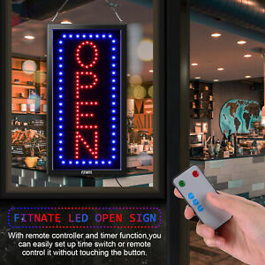 Ultra Bright Led Open Neon Light Board Store Business Sign Flashing Or Steady