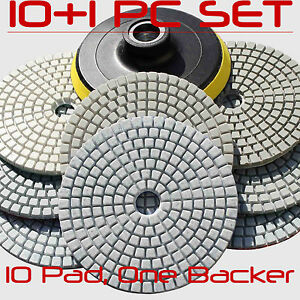 Diamond Polishing Pads Wet dry 5 Inch Kit For Granite Concrete Marble Polish