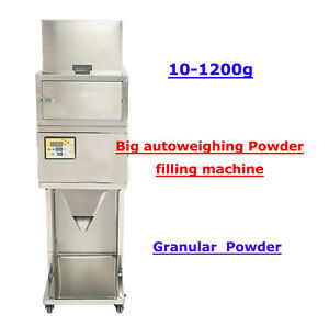 Best Quality 110v 10 1200g Powder Filling Machine Vibratory Filler Tea Weigh
