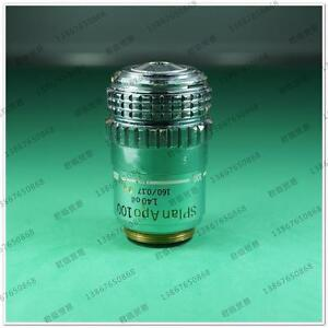 Used Olympus Splan Apo 100 1 40 Oil 160 0 17 Microscope Objective equt Gy
