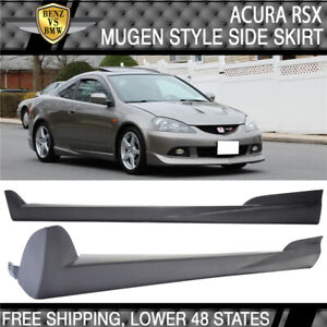 Fits 02 06 Acura Rsx Mugen Style Side Skirts Skirt Pairs Pu Black