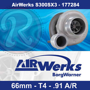 Borg Warner S300sx3 Turbo 66mm Inducer 91 A r Airwerks brand New 177284