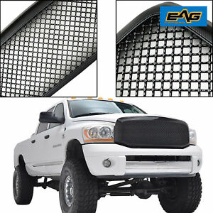 06 08 Dodge Ram 1500 Mesh Grille Abs Carbon Fiber Look Replacement Grill W shell