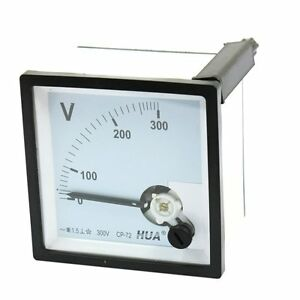 Class 1 5 Ac 0 300v Range Analog Voltage Voltmeter Panel Meter Cp 72