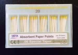 Dental Paper Points 06 Taper 20 10x Of 60 pack total 600pieces meta