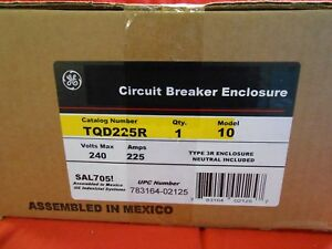 Ge Enclosure Tqd225r New In Box 225amp Outdoor Rated Disconnect add Breaker