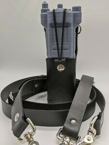 Motorola Apx6000xe Hard Leather Two Way Radio Case Holster Holder Fire Set Usa