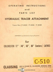 Clausing Colchester 17 Lathe Hyd Tracer Attachment Operation