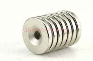 New 20pcs Small Disc Neodymium Magnets 20mm X 3mm Hole 5mm Rare Earth Neo N50