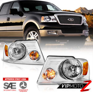 04 08 Ford F150 Pickup Truck Chrome Replacement Headlight Signal Lamp Left Right