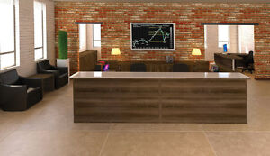 New Amber U shape Reception receptionist Office Desk With Glass Counter