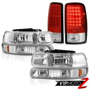 2000 2006 Chevy Suburban 6 0l Euro Chrome L R Headlights Bumper Led Tail Lights