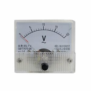 Analog Voltmeter Panel Meter Voltage 85l1 v Ac 0 20v Class 2 5