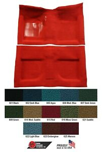 Mustang Carpet Molded 2 Piece With Toe Pad Nylon 1965 1966 1967 1968 Acc