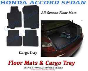 Genuine Oem Honda Accord 4 Door All Season Floor Mat Cargo Tray 2013 2017