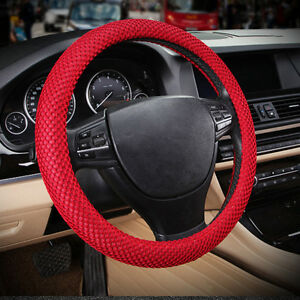 Red No Smell 38cm 15 Summer 3d Sandwich Eva Rubber Car Steering Wheel Cover