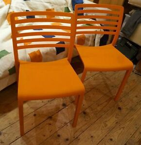 Restaurant Chair Resol Lama Orange made In Spain