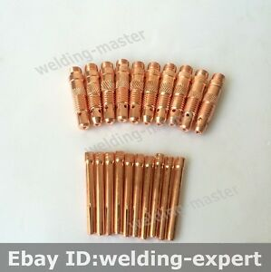 Tig Welding Torch Consumables Wp 17 18 26 Collet Collet Body 2 4mm Kit 20pk