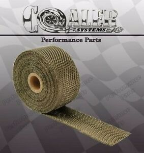 Titanium Exhaust header Heat Wrap 2 X 25 Roll