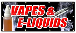 36 x96 Vapes E liquids Banner Sign Bongs Rolling Papers E Cigs Weed Smoke