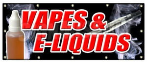 48 x120 Vapes E liquids Banner Sign Bongs Rolling Papers E Cigs Weed Smoke