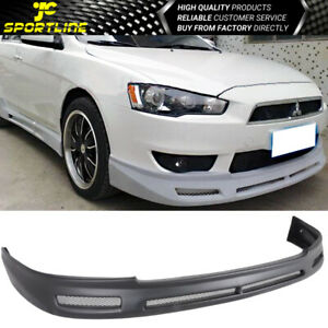 Fits 08 09 10 11 12 13 14 15 Mitsubishi Lancer Pp Front Bumper Lip B Style