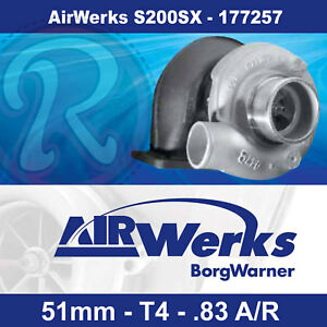 Borg Warner Airwerks S200sx Turbo 51mm T4 Twin Scroll 0 83 A R 220 580hp 177257