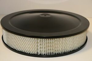 14 X 3 Round Black Air Cleaner Assembly Drop Base Chevy Sbc 350 Bbc 454 Paper