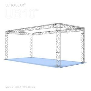Trade Show Booth 10 X 20 X 8 Made Of Aluminum Triangle Trusses