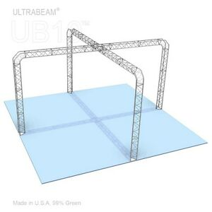 Trade Show Booth 20 X 20 X 10 Made Of Aluminum Triangle Trusses