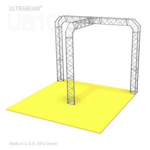 Trade Show Booth 6 X 10 X 8 Made Of Aluminum Triangle Trusses