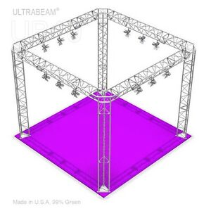 Trade Show Booth With Led Kits 10 X 10 X 8 Made Of Aluminum Triangle Trusses