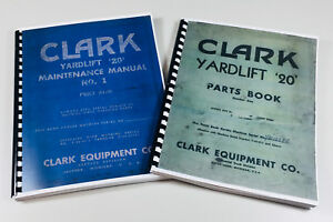 Clark Yardlift 20 Forklift Service Repair Shop Parts Manuals Catalog Maintenance