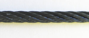 Black Powder Coated Galvanized Wire Rope Cable 1 16 7x7 500 Ft Reel