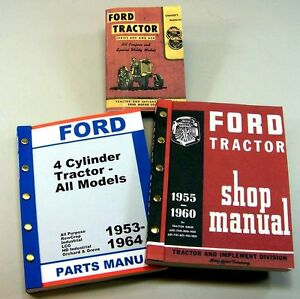 Lot Ford 640 650 660 Tractor Owner Operator Parts Service Repair Shop Manuals