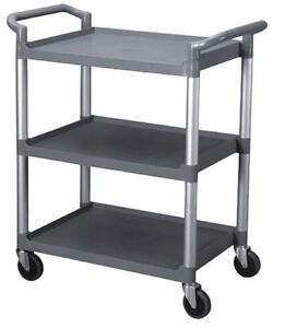 Bus Carts Black Grey Locking Casters 33 5 X 16 1 8 X 37 Grey T3316g
