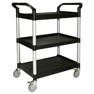 Bus Carts Black Grey Made For Clean Up Transport Bins With Casters T4019b