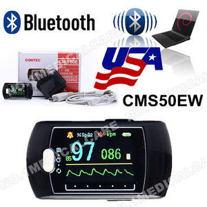 Bluetooth Pulse Oximeter Cms50ew Blood Oxygen Monitor Oled software alarm Fda