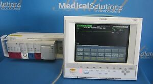 Philips V24c Patient Monitor Lights Up Prints Nbp Ecg 24 26 M1204a Kp B4 10