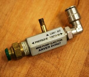 Anver vr07 Inline Mini Pump Ejector Lot Of 4 Used