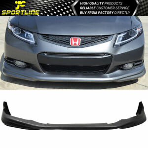 Fits 12 13 Honda Civic 9th 2dr Coupe Md Style Pu Front Bumper Lip Bodykit
