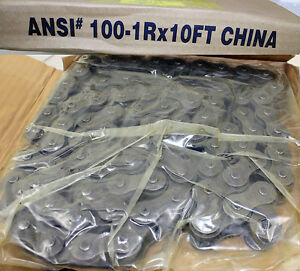 10ft Roller Chain Ansi 100 100 1 W Master Connecting Link New Power Rite
