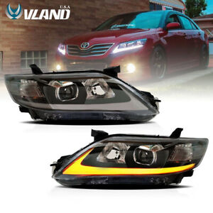 For 2010 2011 For Toyota Camry Headlight Led Drl Headlights Lamp Fits Camry