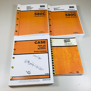 Case 580c Loader Backhoe Operators Service Parts Manuals Repair Shop Tractor Ck