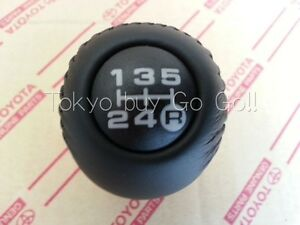 Toyota 4runner 5speed Black Leather Shift Lever Knob Genuine Oem Parts 1996 2000