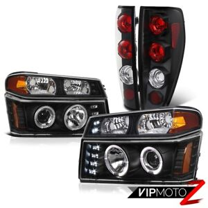 2004 2012 Chevy Colorado Gmc Canyon 6pc Halo Led Projector Headlight Tail Lamp