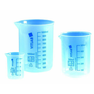 Pack Of 12 Thomas Polypropylene Low form Griffin Beaker 100ml Chemistry Lab New