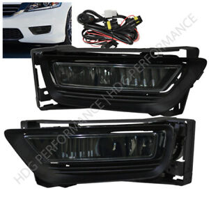 2013 2015 Honda Accord 4dr Sedan Front Bumper Jdm Smoke Lens Fog Light Lamp Kit